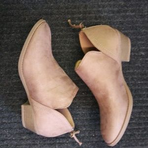 New TAUPE Western Style Ankle Bootie Low Heel